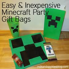 minecraft goody bags ultimate and inexpensive minecraft birthday party gift bags