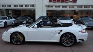 white porsche 911 convertible 2012 porsche 911 turbo s cabriolet white with black and