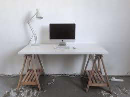 White X Desk by Ikea Trestle Desks Wood Trestle Legs U0026 White Desk Tops X Set Of