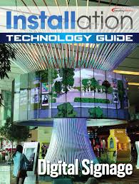 installation digital signage supplement august 2015 by newbay