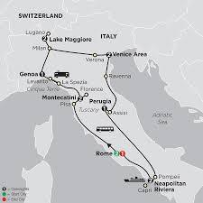 Tuscany Italy Map Italy Vacations With Rome Sorrento U0026 More Cosmos