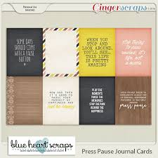 gingerscraps pocket scrapbooking press pause journal cards