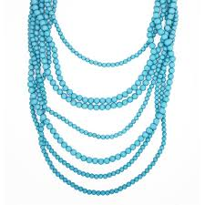 multi layered bead necklace images Bold beaded strands multi layered turquoise necklace by jpg
