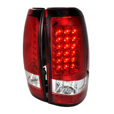 2006 silverado tail light assembly 03 06 chevrolet silverado 1500 2500hd 3500 red lens led tail lights