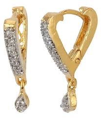 daily wear diamond earrings renaissance traders casual hit daily wear gold american diamond