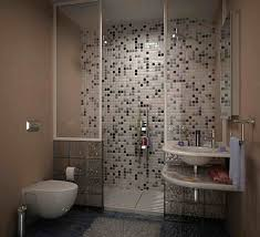 Mosaic Bathroom Floor Tile Ideas Love The Subway Tile Graphic Patterned Floor And Gray Paint Small