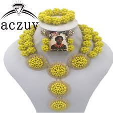 bead jewelry bracelet images Aczuv nigeria wedding 6mm african beads jewelry sets necklace jpg