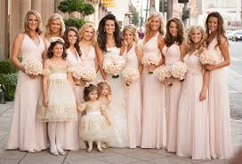 bridesmaid dresses bridesmaid dresses blush bridesmaid gowns from real weddings