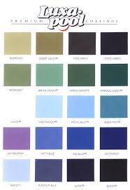 swimming pool paint color chart perplexcitysentinel com