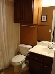 lavish very small bathroom design idea with blue wallpaper with