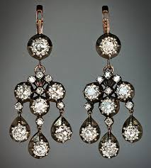 girandole earrings chandelier girandole antique style diamond earrings antique