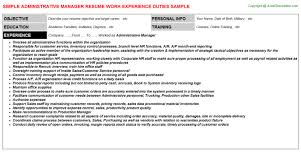 Example Resumes For Administrative Assistant by Administrative Assistant Job Description For Resume Resume Badak