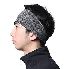 hairband men headbands for men moisture wicking turban elastic no