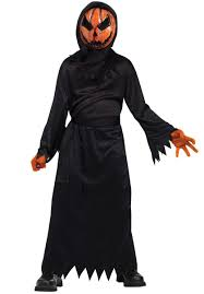 kids bleeding pumpkin costume child halloween fancy dress