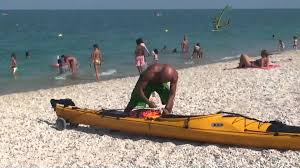 porta kayak per auto luca prova il carrello per il kayak prijon seayak 500 lv 4 8