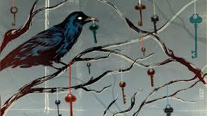 Hanging Artwork Birds Hanging Artwork Ravens Keys Branches Wallpaper 20279