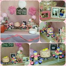 our baby shower for my sil with cupcakes and a beautiful confetti