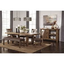 ashley dining room sets signature design by ashley tamilo gray brown rectangle extension
