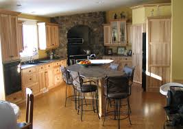 Hickory Kitchen Cabinets Natural Rustic Hickory Kitchen Cabinets Exitallergy Com