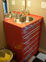 man cave sink and vanity made out of a tool chest interesting