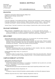 resume sle format for ojt students duties college student resumes exles google search career