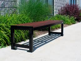 Ipe Bench Public Bench Contemporary Ipe Steel Mlb400b Maglin Site
