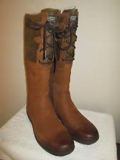 s ugg australia elsa boots ugg australia leather lace up mid calf boots for ebay