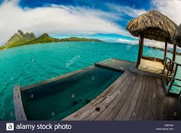 deck with plunge pool overwater bungalow suite four seasons