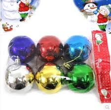buy 6pcs lot 6x6cm multi plastic christmas ornament paint balls