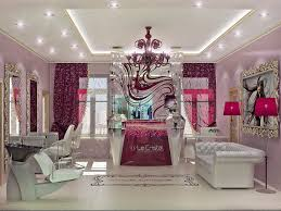 Design Hair Salon Decor Ideas Le Cristal Day Spa In Kiev This Color Is Supposed To Be Burgundy