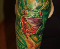 green tree painting frog tattoos images design idea for