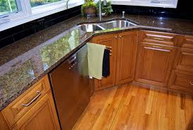 Kitchen Peninsula Cabinets Bathroom Archaiccomely Corner Sink Kitchen Layout Granite Small