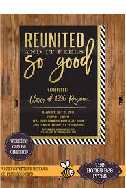 high school reunion invitations high school reunion invitation reunited and it feels so
