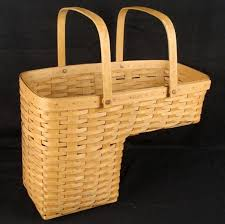 longberger hand woven step stair basket