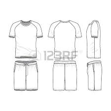 vector templates of clothing set front back side views of