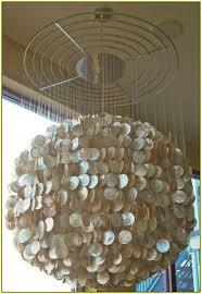 White Shell Chandelier Large Capiz Shell Chandelier Home Design Ideas Intended For