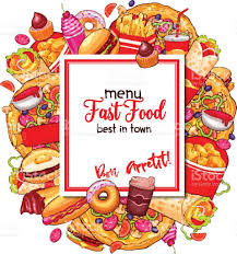 food vector fast food vector menu cover of restaurant template stock vector