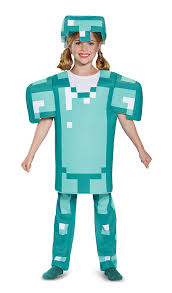 amazon com armor deluxe minecraft costume blue large 10 12