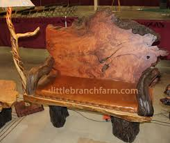 Rustic Bench Coffee Table In Stock And For Sale Littlebranch Farm Rustic Log Furniture