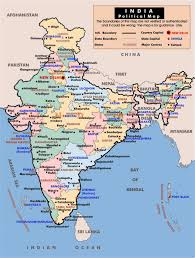 World Map Of India by Political And Administrative Map Of India India Asia