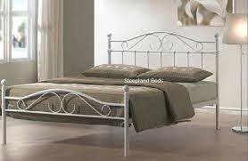 White Metal Kingsize Bed Frame Metal King Size Bed Furniture The Brick King Size Bed Frames King