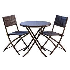Bistro Patio Furniture Sets - rst brands 3 piece patio bistro set op pebs3 the home depot