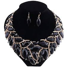 african necklace earrings images African beads jewelry sets women bridal crystal jpg