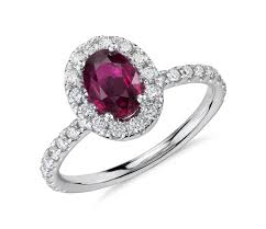 ruby engagement rings oval ruby and ring in 14k white gold 7x5mm blue nile