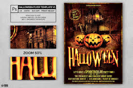 halloween flyer template psd design for photoshop