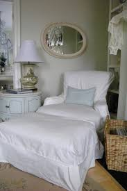 Slipcover Chair And Ottoman Maison Decor Shabby Chic Slipcover Style
