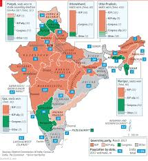 Map Of India States by Narendra Modi U0027s Party Drubs The Opposition In India U0027s Biggest State