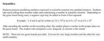 math u003d love scientific notation practice activities