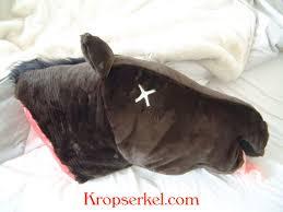 fake horse head swag bag godfather esque horse head pillow