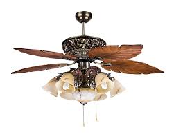 Ceiling Fan With Chandelier Large Tropical Ceiling Fan Light With 5 Maple Leaves Blade